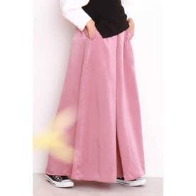 ◆リラックスサテンワイドパンツ ピンク