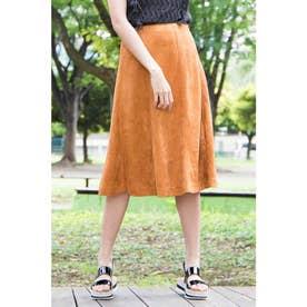 ◆フェイクスウェードフレアスカート キャメル