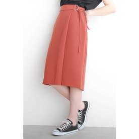 ◆とろみラップ風スカート ブラウン