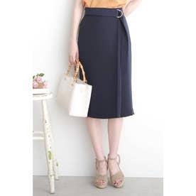 ◆とろみラップ風スカート ネイビー