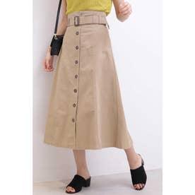 ◆トレンチマキシAラインスカート ベージュ