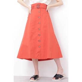 ◆トレンチマキシAラインスカート オレンジ
