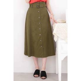 ◆トレンチマキシAラインスカート カーキ