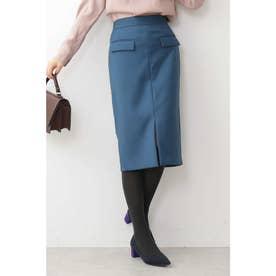 フラップポケットスカート ブルー