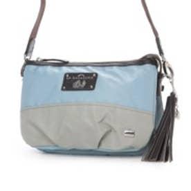ラ バガジェリー LA BAGAGERIE ウォータープルーフナイロン お財布ポシェット (BLUE×GRAY)