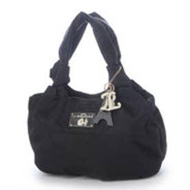 ラ バガジェリー LA BAGAGERIE チャーム付 ナイロンツイルトートバッグ Sサイズ (BLACK)