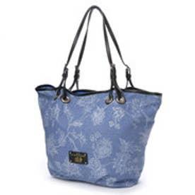ラ バガジェリー LA BAGAGERIE CASA DECO フラワープリントトートバッグ Mサイズ (BLUE)