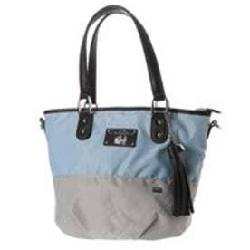 ラ バガジェリー LA BAGAGERIE ウォータープルーフナイロン 2wayミニトートバッグ (BLUE×GRAY)