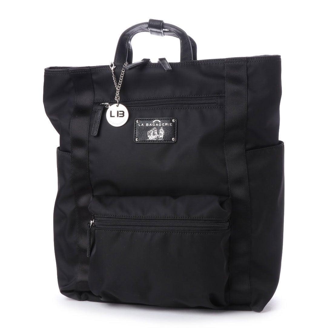 b55b225d54 ラ バガジェリー LA BAGAGERIE 10ポケットスクエアリュック (BLACK) -ラグジュアリーブランド通販 ロコンドデパートメント  (LOCONDO DEPARTMEMT)