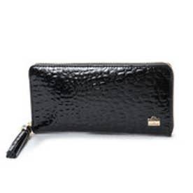 ラ バガジェリー LA BAGAGERIE クロコ型押しエナメル 長財布 (BLACK)