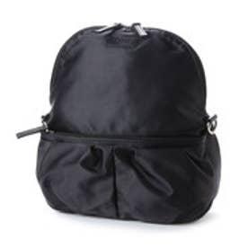 イザック YSACCS ポケットギャザーリュック Sサイズ (ブラック)