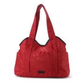 イザック YSACCS スター柄ナイロントートバッグ Mサイズ (RED)