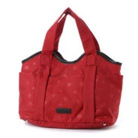 イザック YSACCS スター柄ナイロントートバッグ Sサイズ (RED)