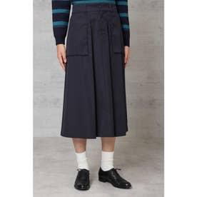 高密度ツイルマチポケット付スカート◆ ネイビー