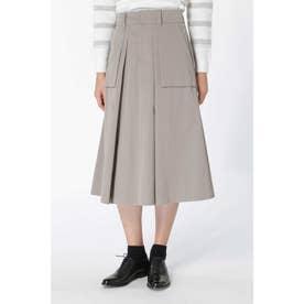 高密度ツイルマチポケット付スカート◆ アッシュグレー2