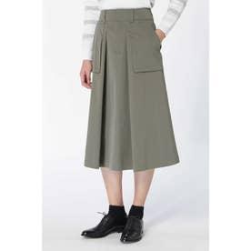 高密度ツイルマチポケット付スカート◆ カーキ