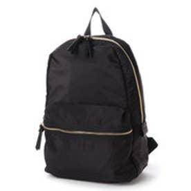 ベース BASE 【A4対応】 大容量 軽量 ナイロンリュック バッグパック (ブラック)