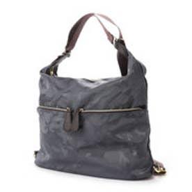 ベース BASE 【2WAY】 ナイロンバッグ さりげないカモフラージュ柄 ショルダー リュックにも 機能的バッグ (グレー)