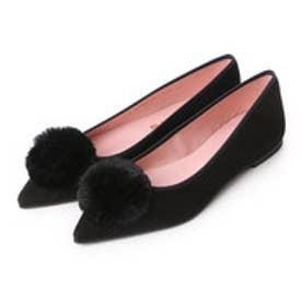 プリティ バレリーナ PrettyBallerinas ELLA suede-fur(エラ スエード-ファー)ポインテッドシューズ (ブラック)
