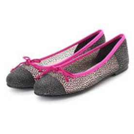 プリティ バレリーナ PrettyBallerinas MARILYN casela-leather(マリリン カセラレザー)バレエシューズ (NOIR-NEGRO+pink piping)