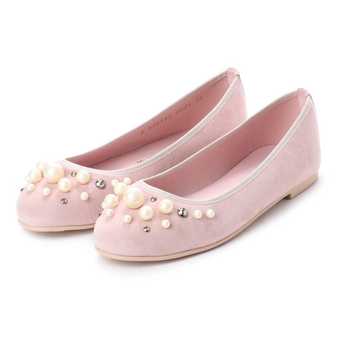 プリティ バレリーナ PrettyBallerinas MARILYN suede-pearls(マリリン スエードパール)バレエシューズ (ROSA) レディース