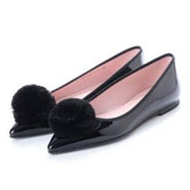 プリティ バレリーナ PrettyBallerinas ELLA patent-fur(エラ パテント-ファー)ポインテッドシューズ (NEGRO-NEGRO-NEGRO)