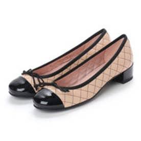 PrettyBallerinas LINDSAY patent-leatherquilt(リンゼイ パテント x レザーキルト) ヒール付きバレエシューズ (NEGRO-COCO)