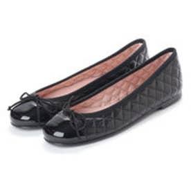 プリティ バレリーナ PrettyBallerinas ROSARIO patent-leatherquilt(ロザリオ パテントレザーキルト)バレエシューズ (NEGRO-NEGRO)