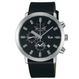 SEIKO アルバ ALBA リキワタナベ クロノグラフ 腕時計 国産 メンズ(シルバー)