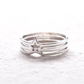 ヤーカ YArKA 【massivestore】【YArKA/ヤーカ】silver925 star line ring satellite2 スターラインリング サテライト2 (silver)