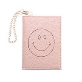 パスディス PASSE-DIX スマイリーフェイス パンチングパスケース (ピンク)
