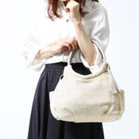パスディス PASSE-DIX 丸ハンドル雑材調トートバッグ (アイボリー)