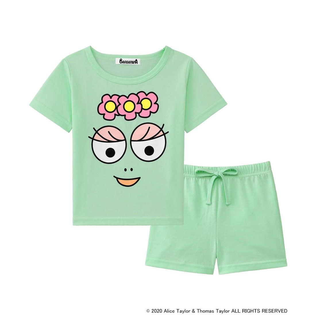 【ワンマイルウェア】バーバパパ Tシャツ Kids 上下セット メロン/ME 【返品不可商品】