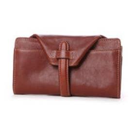 フェス fes ズッケロフィラート・かぶせ型カウレザー長財布 (ブラウン)