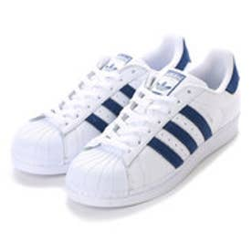 アディダス adidas SUPER STAR (WHITExBLUE (pile))