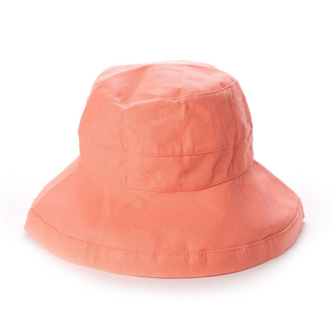 スカラ SCALA レディースUVカット帽子LC484 BARI (グレープフルーツ)