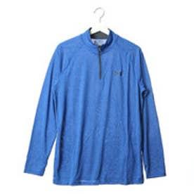 アンダーアーマー UNDER ARMOUR メンズ 長袖 ジップアップ シャツ TECH 1/4 ZIP (U-BLUE)