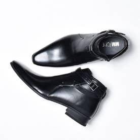 エムエムワン MM/ONE ジョッパータイププレーントゥビジネスブーツ (ブラック)