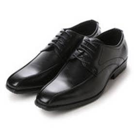 エムエムワン MM/ONE スワールトゥレースアップビジネスシューズ (ブラック)