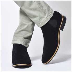シュベック SVEC サイドゴアショーツブーツ (ブラックスエード)