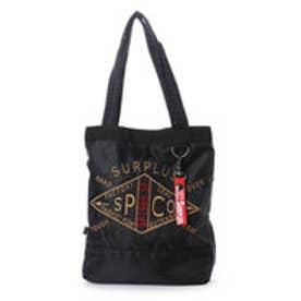 スタイルブロック STYLEBLOCK 『SURPLUS』ミリタリー刺繍入り2WAYミニショルダートートバッグ (ブラック)