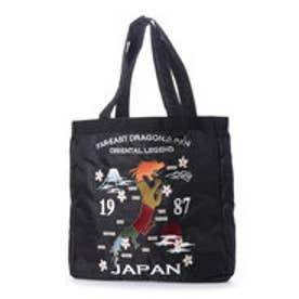 スタイルブロック STYLEBLOCK スカジャン調刺繍入りトートバッグ (地図ブラック)