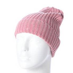 スタイルブロック STYLEBLOCK カラーフェードリブ編みワッチキャップ (ピンク)