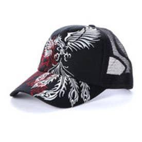 スタイルブロック STYLEBLOCK 和柄刺繍トライバルメッシュキャップ (シルバーフェニックス)