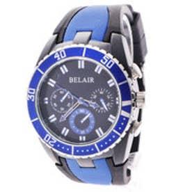 スタイルブロック STYLEBLOCK バイカラーラバーベルト腕時計 (ブルー)