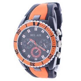 スタイルブロック STYLEBLOCK バイカラーラバーベルト腕時計 (オレンジ)