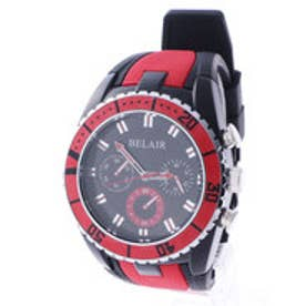 スタイルブロック STYLEBLOCK バイカラーラバーベルト腕時計 (レッド)