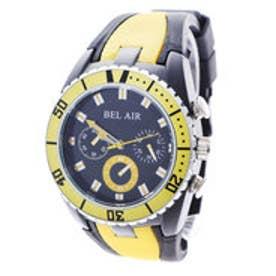 スタイルブロック STYLEBLOCK バイカラーラバーベルト腕時計 (イエロー)