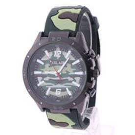 スタイルブロック STYLEBLOCK カモフラージュ柄腕時計 (ライトグリーン)