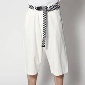 スタイルブロック STYLEBLOCK ベルト付きワイドチノショートパンツショーツハーフパンツ (オフホワイト)